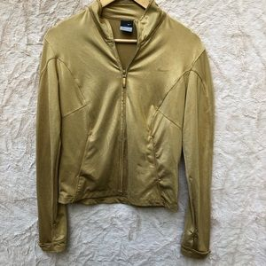 Nike Di-Fit shiny gold jacket,S